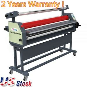 Usa 63 Full Auto Wide Format Laminator Roll Heat Assisted Cold Laminator