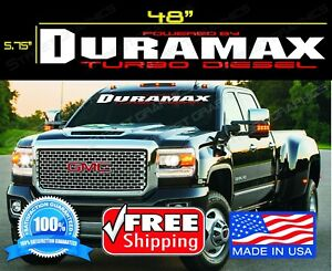 Duramax Gmc Chevy Windshield Vinyl Decal Sticker Duramax Car Truck Window