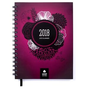 Lucky Life Planner 2018 Goal Planner Daily weekly Monthly And Yearly Agenda