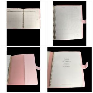 2018 Daily Planner Light Pink Leatherette On The Agenda 12 Monthly Planning