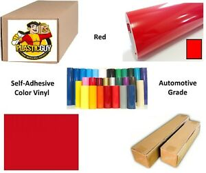 48 X 50yd 6yr Outdoor Sign Vinyl Film Craft Hobby Roll Sheet Red