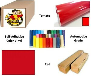 24 X 55yd 6yr Outdoor Sign Vinyl Film Craft Hobby Roll Sheet Tomato Red