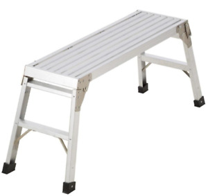 Small Aluminum Work Platform Slim Fold Design Folding Bench Drywall Stool
