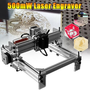 500mw Diy Desktop Laser Cutting Engraving Machine Logo Marking Printer 20x17cm