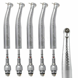 5 Dental Fiber Optic Handpiece Led Turbine Fit Kavo Push 6h Swivel Coupler Usa