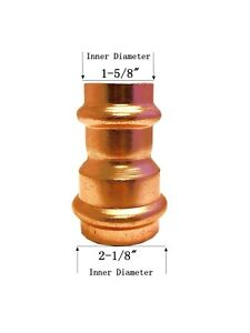 Libra Supply 2 X 1 1 2 Inch Copper Press Coupling Bell Reducer P X P