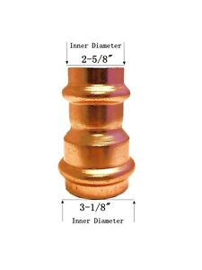 Libra Supply 3 X 2 1 2 Inch Copper Press Coupling Bell Reducer P X P