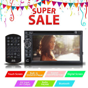 6 2 Car Stereo Dvd Player Double Din For Honda Pilot Element Cr v Civic Accord