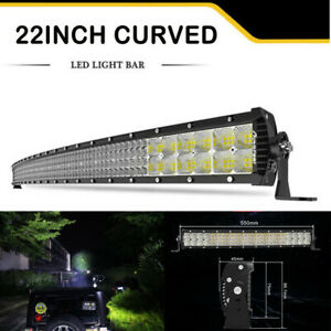 10d Quad Row 3360w Cree 42inch Curved Led Light Bar Flood Spot Car Driving 40 44