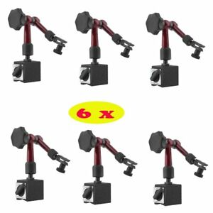 6x Magnetic Base Holder For Digital Level Dial Test Indicator Tool With Stand Mx