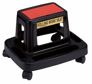 Tool Hub 9734 Composite Rolling Roller Seat Mechanics Garage Swivel Chair Stool