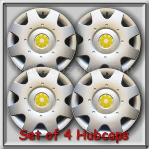 2000 2001 16 Vw Volkswagen Beetle Yellow Daisy Flower Hub Caps Wheel Covers