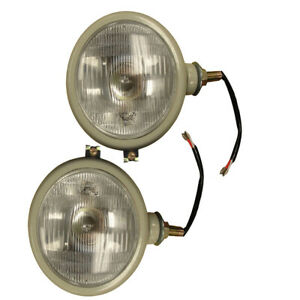 310066f Set Of 2 12v Gray Head Lamp Lights For Ford 2n 8n 9n 600 800 Naa