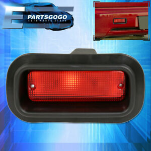 Honda Civic Del Sol Crx Ef Si Jdm Edm Custom Red Lens Rear Bumper Fog Light