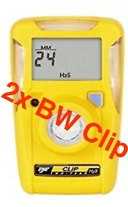 2x New Bw Technologies Bwc2 h Yellow Bw Clip Portable Hydrogen Sulfide Monitor