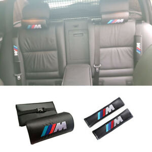 2x Headrest Neck Pillow seat Belt Cover For Bmw E53 E60 E90 E92 E93 F10 F20 F30