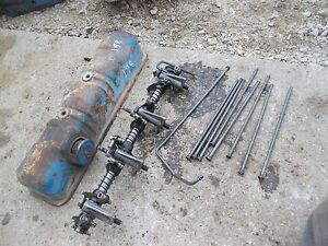 Ford 861 Tractor Engine Motor Valve Cover Push Rods Rod Rocker Arm Assembly