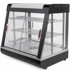 27 Food Court Restaurant Heated Food Pizza Display Warmer Glass Cabinet Case