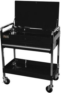 Utility Tool Cart Storage Rolling 32 In 1 drawer Tubular Locking System Steel