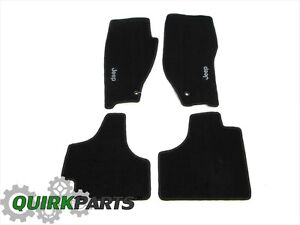 11 12 Jeep Liberty Dark Slate Grey Premium Set Of 4 Carpeted Floor Mats Mopar