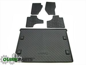11 12 Jeep Liberty Front Rear Slush Mats Cargo Tray Set Of 5 Oem New Mopar
