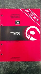 John Deere 1610 Series 2 bar Integral Chisel Plow Operators Manual