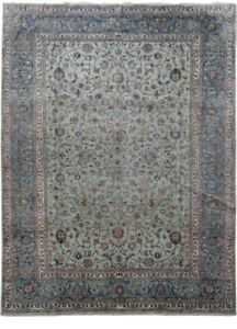 Persian Dining Room Handmade Signed 10 X 13 Kashan Rugs Sale Gray Rug