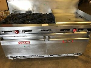 Vulcan 60 6 Burner With 24 Grill And 2 Oven Range