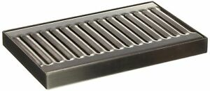Surface Mount Drip Tray No Drain Stainless Steel With 4 Brushed Finish Silver