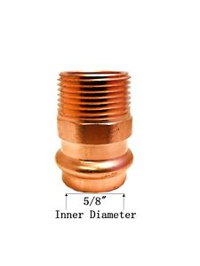 Libra Supply Lead Free 1 2 Inch 1 2 Press Copper Male Adapter P X Mip 10pcs