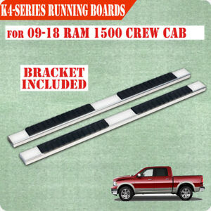 Fit 09 18 Dodge Ram 1500 Crew Cab 4 Nerf Bar Side Step Running Boards S s H