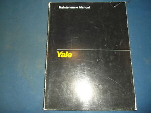 Yale Tm Diesel 4 Cylinder Engine Maintenance Manual Book Catalog