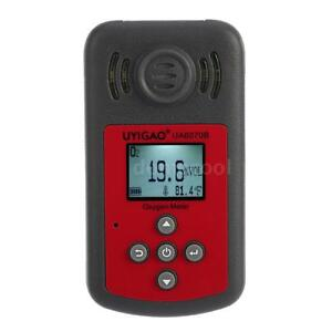 Portable Lcd Digital Oxygen Meter O2 Gas Tester Detector Monitor With Alarm D2s0