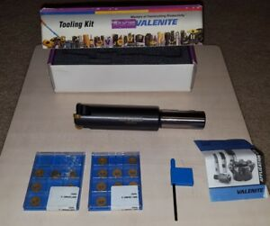 Valenite Mill tool Kit Brand New With Cutter Inserts Wrench Guide Germany 31