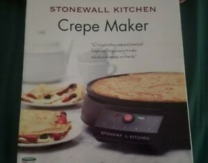Electric Crepe Maker By Stonewall Kitchen Pancake Griddle New