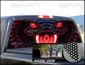 P210 King Cobra Snake Rear Window Tint Graphic Decal Wrap Back Pickup Graphics