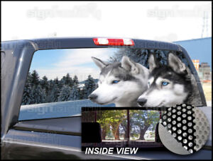 P228 Wolf Rear Window Tint Graphic Decal Wrap Back Pickup Graphics