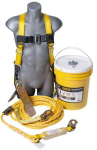 Guardian Fall Protection Kit 00815 Safety Harness Temper Anchor Roof 50