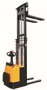 Semi Electric Straddle Pallet Stacker Lift 3300lb 1 Year Warranty Eoslift S15j