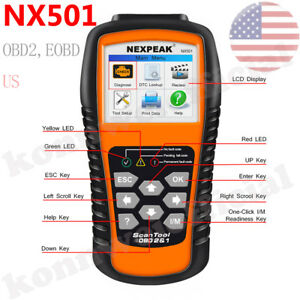 Obdii Can Car Auto Code Reader Obd2 Scanner Full Engine Fault Diagnostic Tool