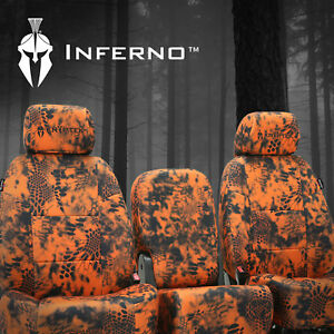 Coverking Camo Kryptek Inferno Neosupreme Front Seat Covers For Toyota Tacoma