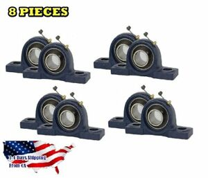 Ucp204 12 Pillow Block Bearing 3 4 Bore 2 Bolt Solid Base 8pcs