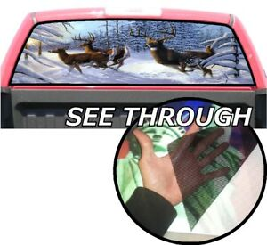 P374 Deer Hunting Rear Window Tint Graphic Decal Wrap Back Pickup Graphics