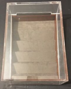 Acrylic Lucite Countertop Display Case Showcase Box Cabinet 12 X 6 X 16