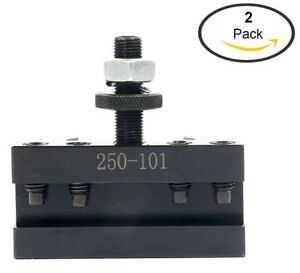 2 Pack 250 101 Axa 2quick Change Turning Facing Boring Cnc Tool Post Holder