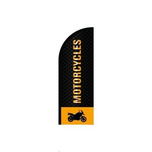 Motorcycles Feather Flag Sign Outdoor Advertising Business Flag Only