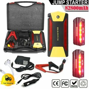 82800mah Car Jump Starter Booster Jumper High Power Battery Charger W Cables Vi