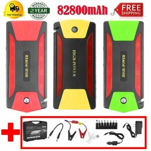Battery Jump Starter 82800mah Peak Portable Car Suv Charger Booster W Cables Vi