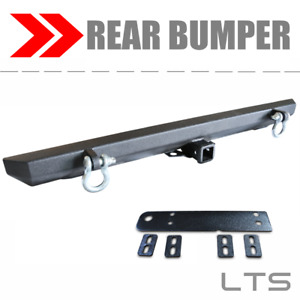 July 4 Sales Black Rear Textured Bumper With D Rings Fits 1987 2006 Jeep Yj Tj