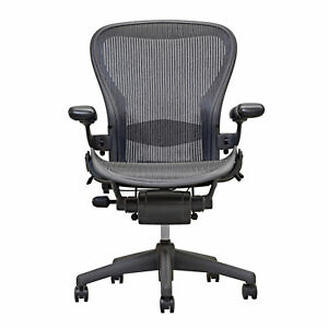 Herman Miller Aeron Chair Open Box Size B Fully Loaded Hardwood Caster No Tax